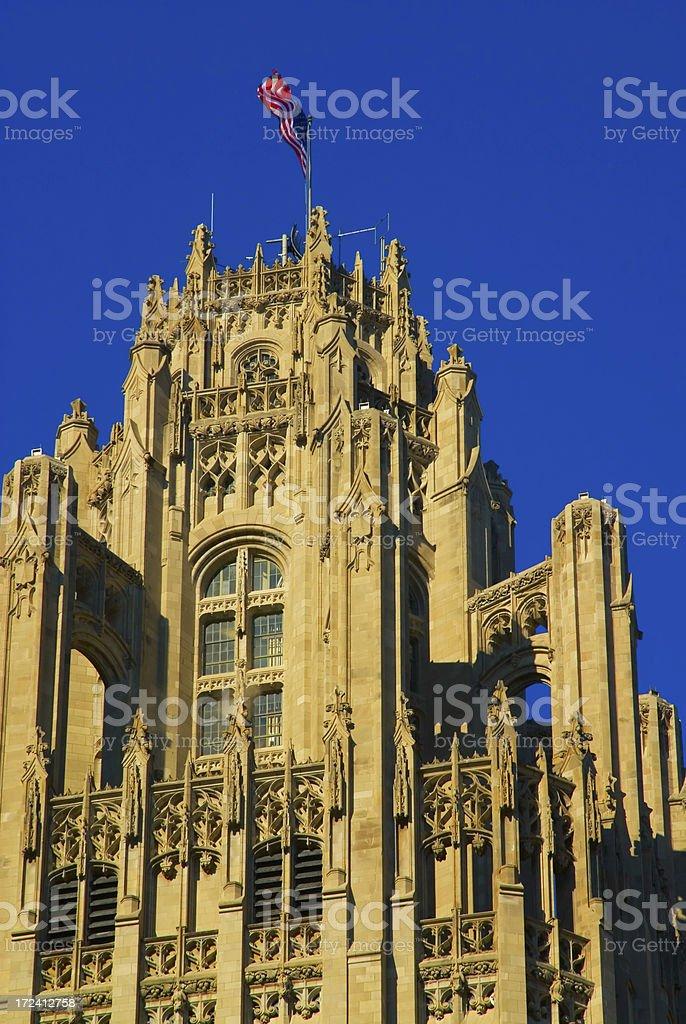 Chicago Tribune Tower royalty-free stock photo