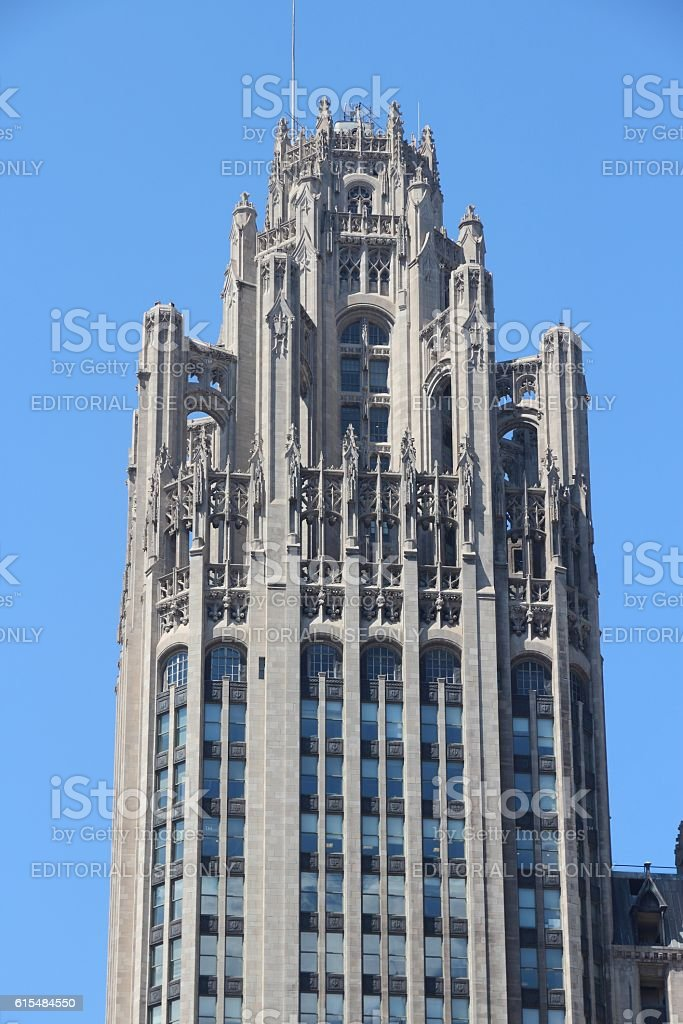 Chicago Tribune Tower stock photo