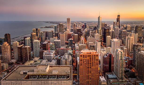 Chicago Twilight stock photo