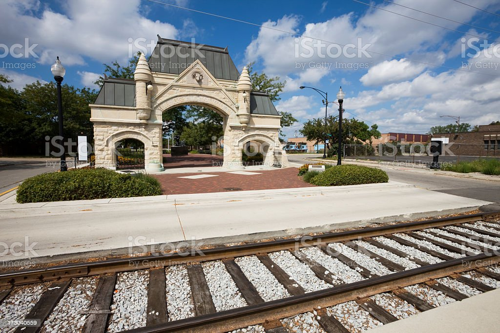 Chicago Union Stock Yards Gate royalty-free stock photo