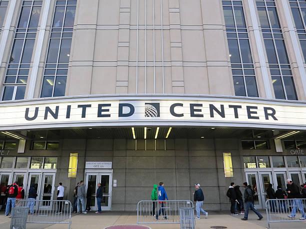 Chicago United Center Entrance Sign stock photo