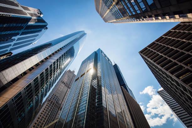 arranha-céus urbana chicago eua - arranha céu - fotografias e filmes do acervo