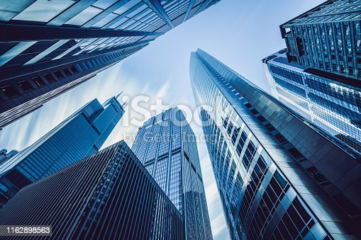 Low Angle View of Skyscrapers in Chicago