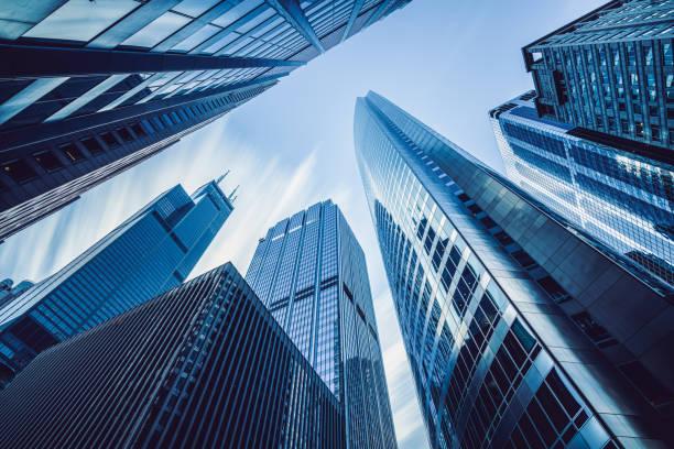 arranha-céus urbanos eua de chicago - arranha céu - fotografias e filmes do acervo