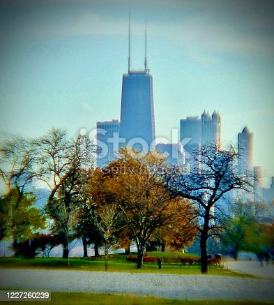 852738732 istock photo Chicago USA in The Autumn 1227260239