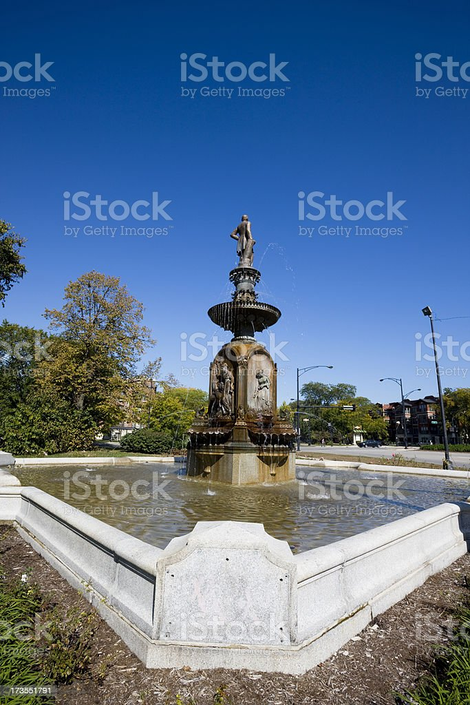 Chicago Victorian Fountain royalty-free stock photo