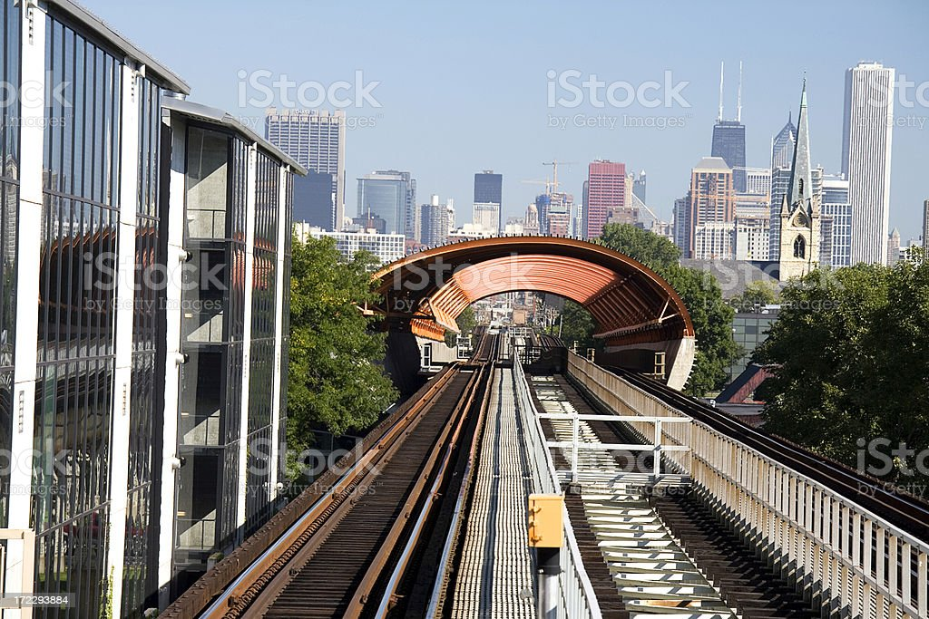 Chicago View from Elevated Railway royalty-free stock photo