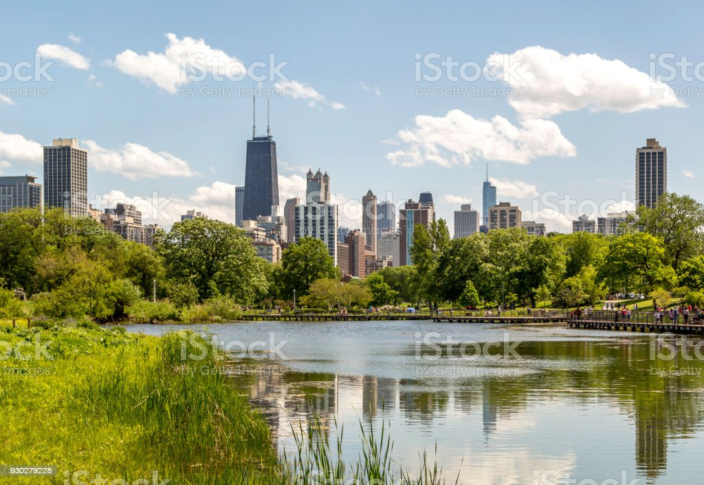 Chicago View from the Park stock photo