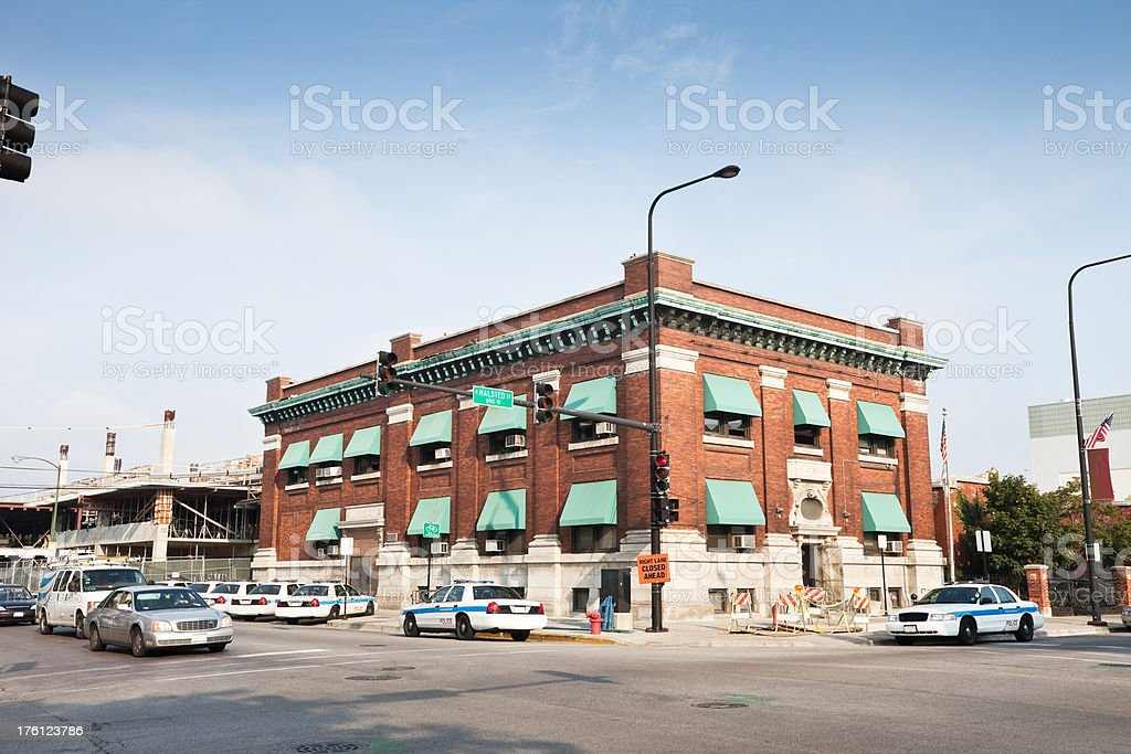Chicago Vintage Police Station stock photo