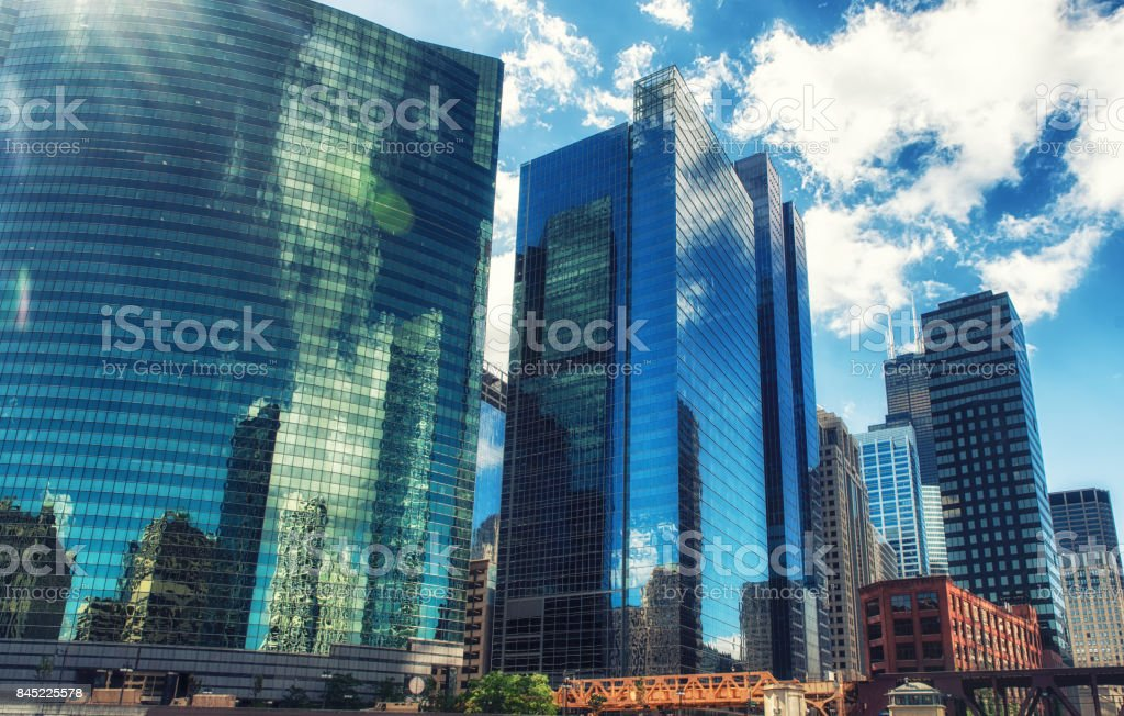 Chicago, Wacker Drive stock photo