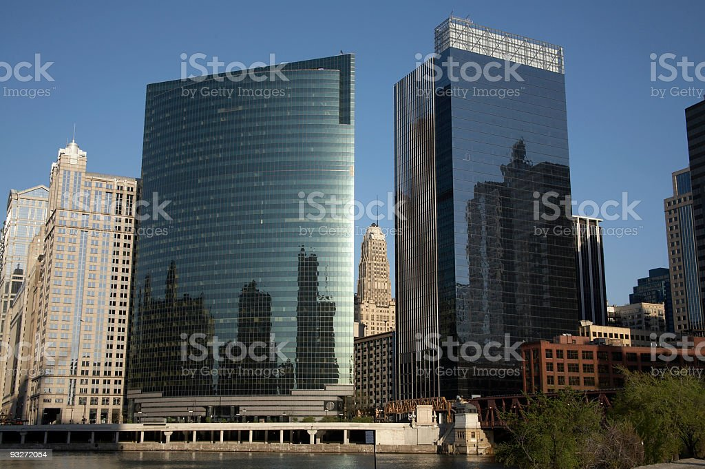 Chicago - Wacker Drive stock photo