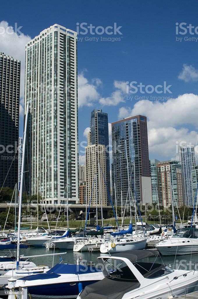 Chicago waterfront royalty-free stock photo