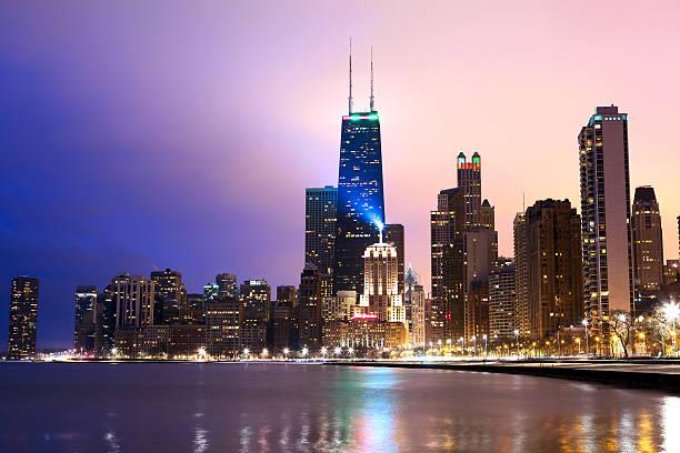 costa de chicago - edificio hancock chicago fotografías e imágenes de stock