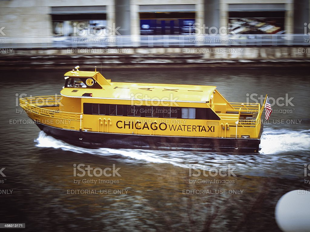 Chicago Watertaxi stock photo