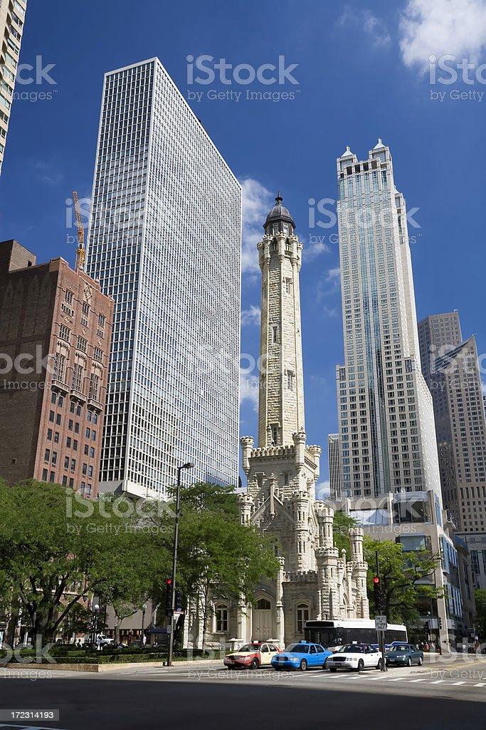 Chicago Watertower, Michigan Avenue stock photo