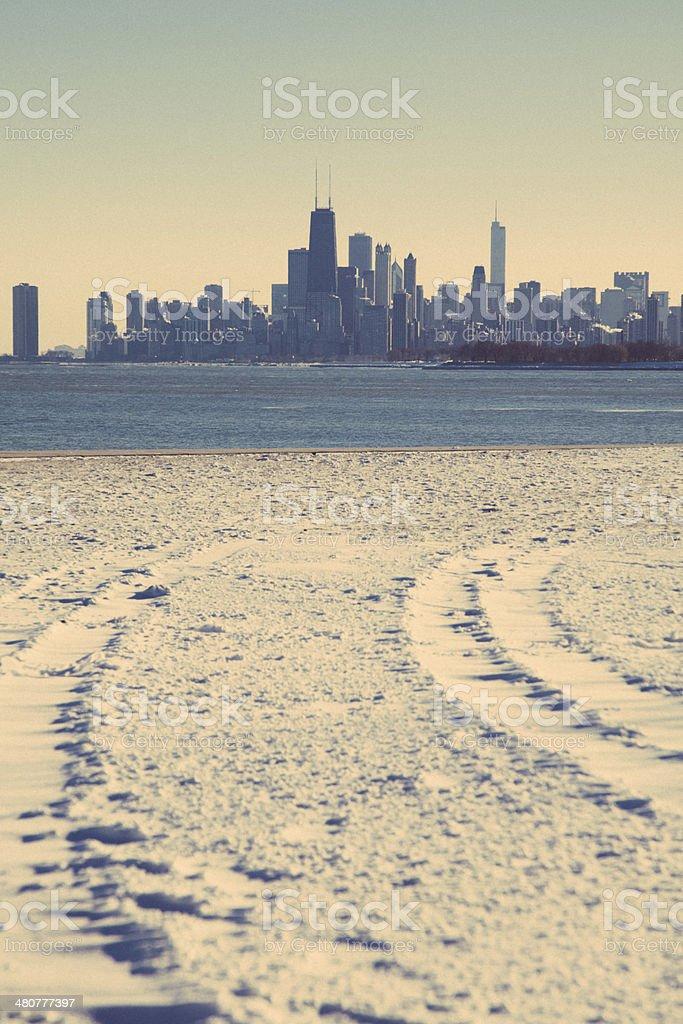 Chicago Winter Skyline stock photo