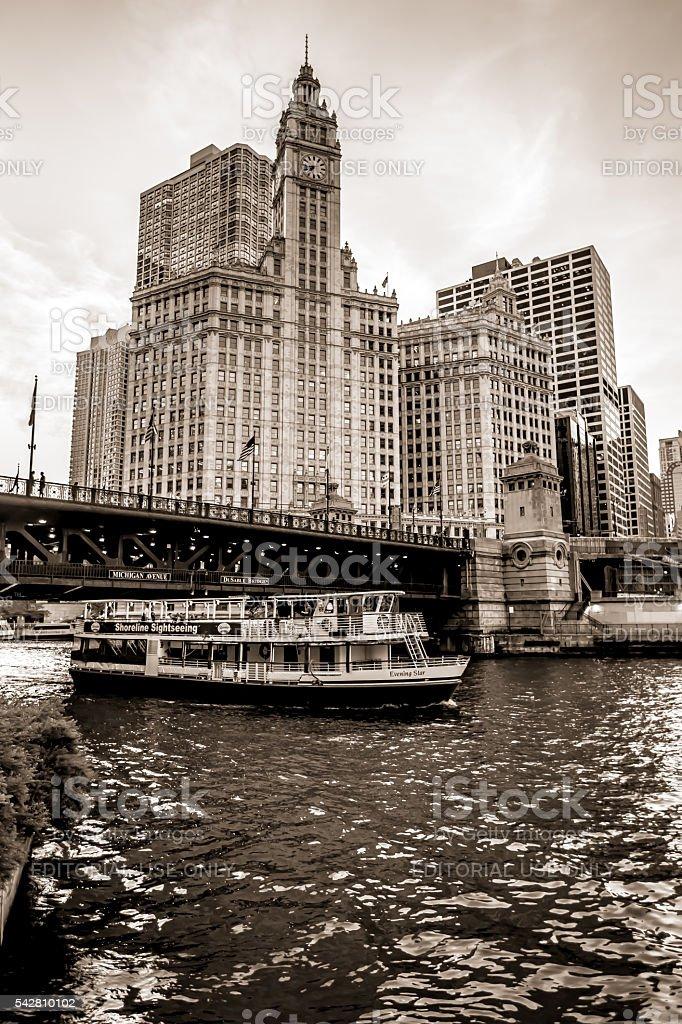 Chicago Wrigley Building stock photo