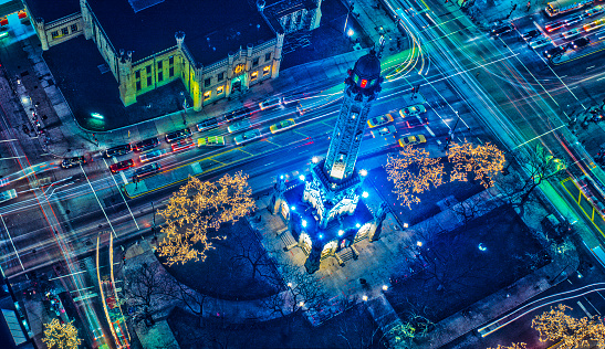 Chicago,IL Water Tower, Aerial