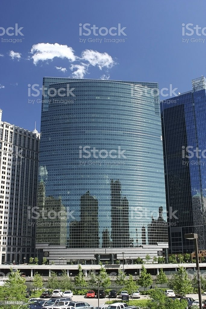 Chicago's 333 West Wacker Drive stock photo