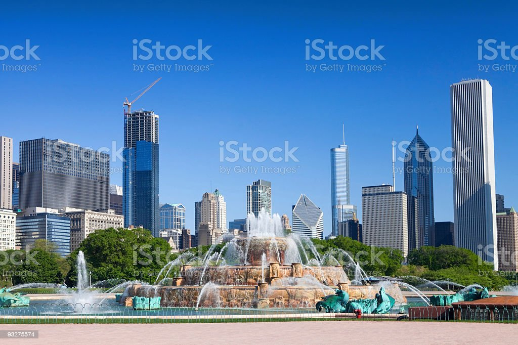 Chicago's Buckigham Fountain royalty-free stock photo