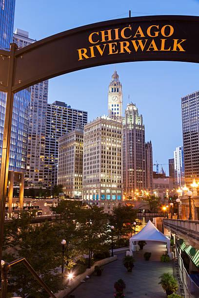 Chicagos berühmtem riverwalk – Foto