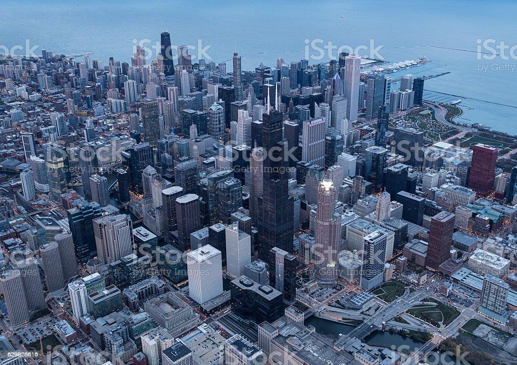 Chicago's famous skyscraper stock photo