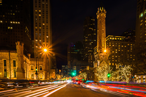 Chicago's Michigan Avenue at Christmas