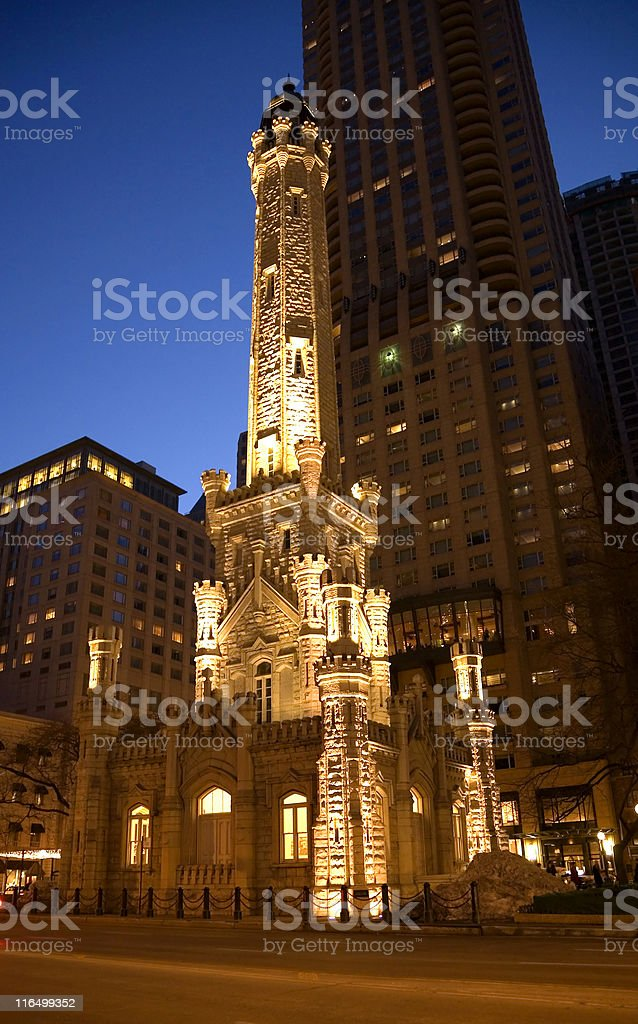 Chicago's Water Tower stock photo