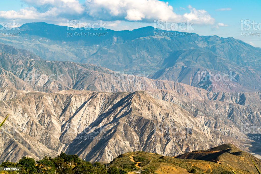 Chicamocha canyon located in Santander, Colombia stock photo