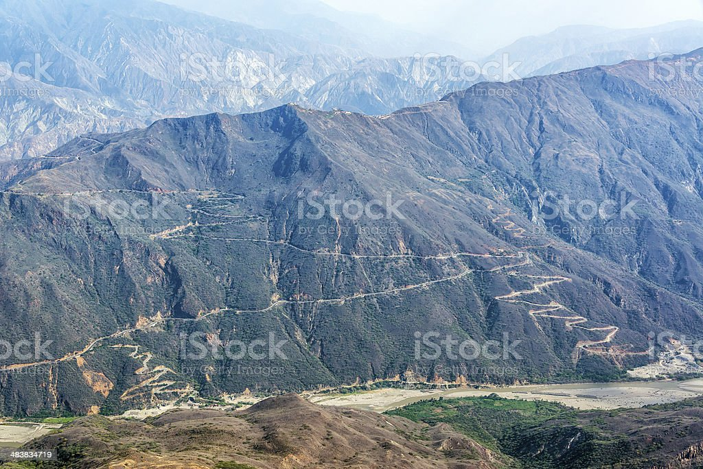 Chicamocha Canyon stock photo