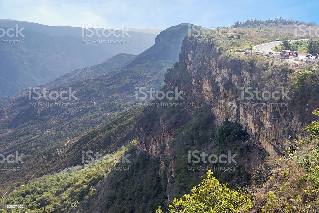 Chicamocha Canyon View stock photo