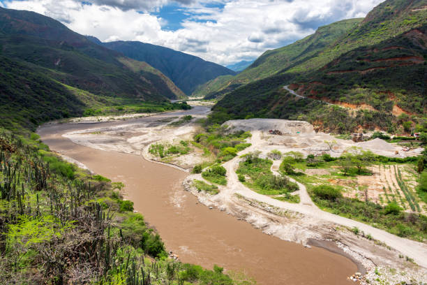 Chicamocha River View stock photo