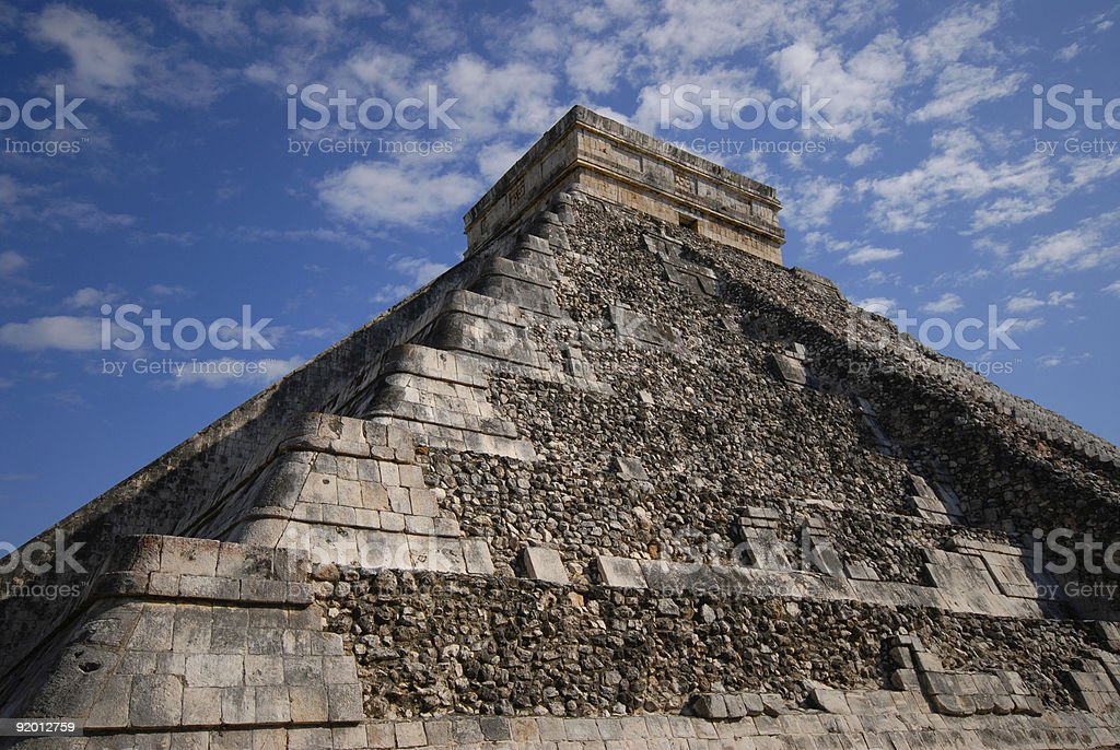 Chichen Itza Detail royalty-free stock photo