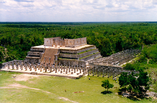 Chichen Itza in Mexico : The Temple of a Thousand Columns (or Temple of Warriors)