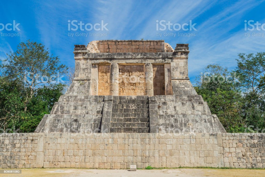 Ancient civilization. mayan pyramid in Yucatan, Mexico