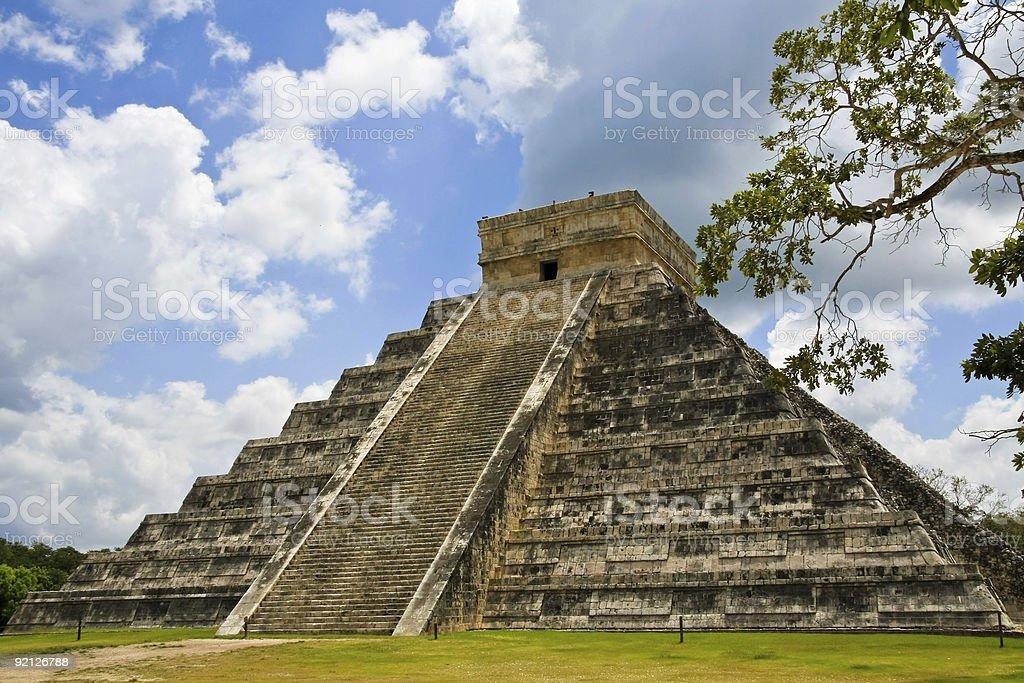 Chichen Itza Pyramid royalty-free stock photo