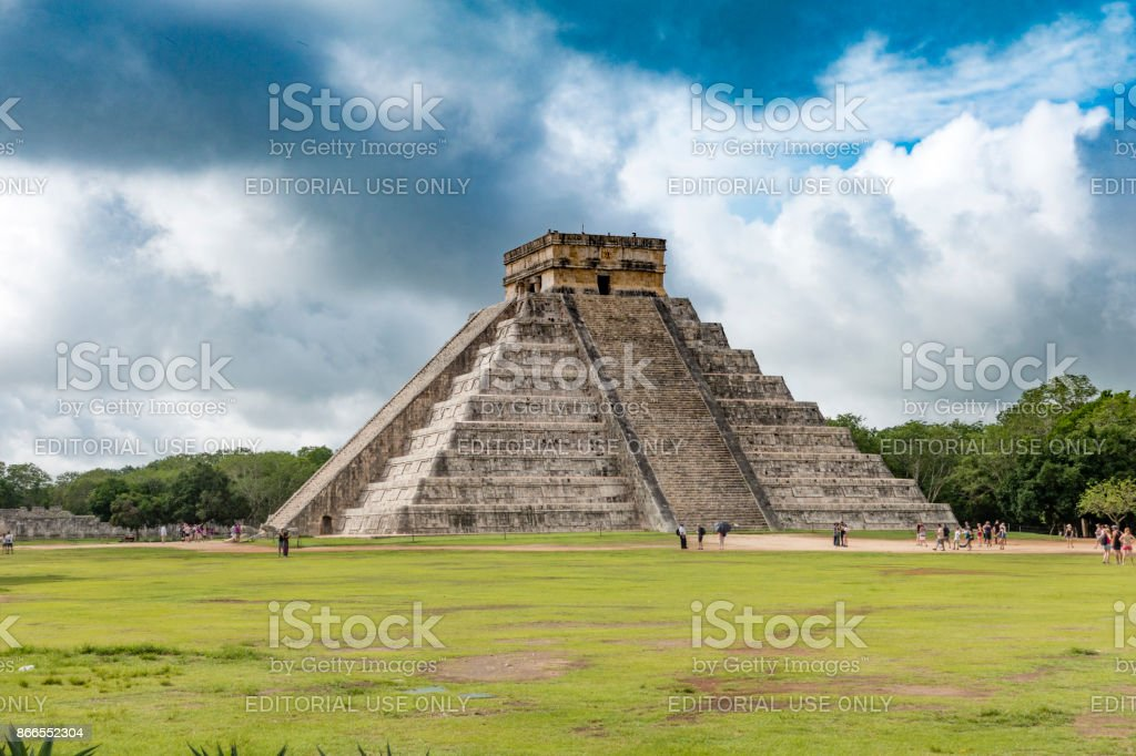 Chichen Itza Pyramids Mexico stock photo