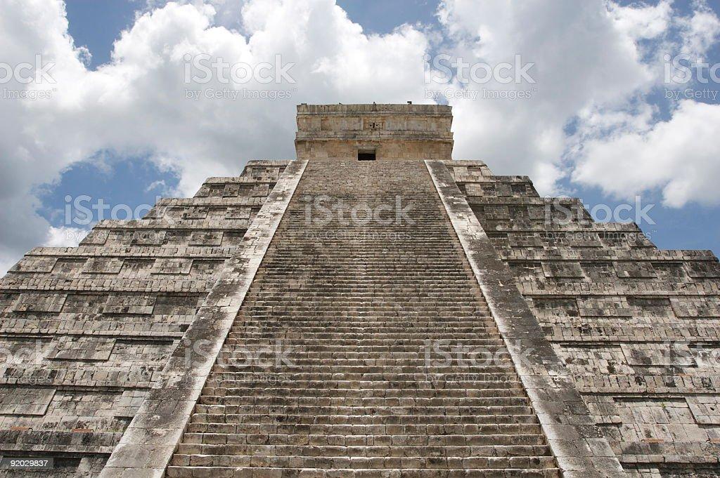 Chichen Itza Temple stock photo