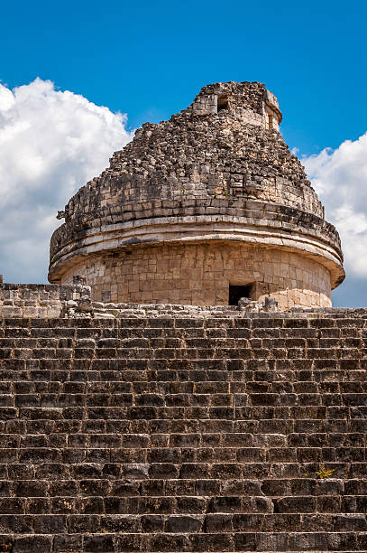 Chichen-Itza El Caracol Mayan Observatory on Yucatan in Mexico Chichen-Itza El Caracol Mayan Observatory on Yucatan peninsula in Mexico. Observations of Venus. naya rivera stock pictures, royalty-free photos & images