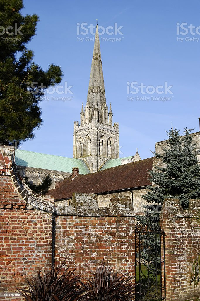 Cattedrale di Chichester. West Sussex. Inghilterra foto stock royalty-free