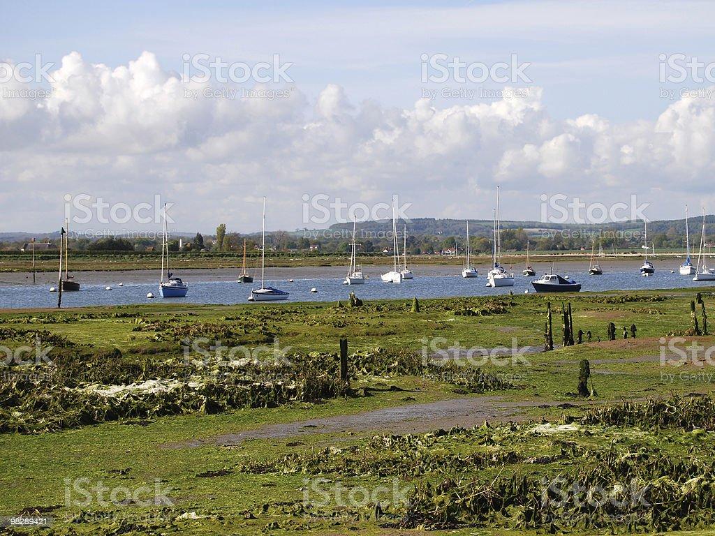 Porto di Chichester a Bosham. Sussex ad ovest. Inghilterra foto stock royalty-free