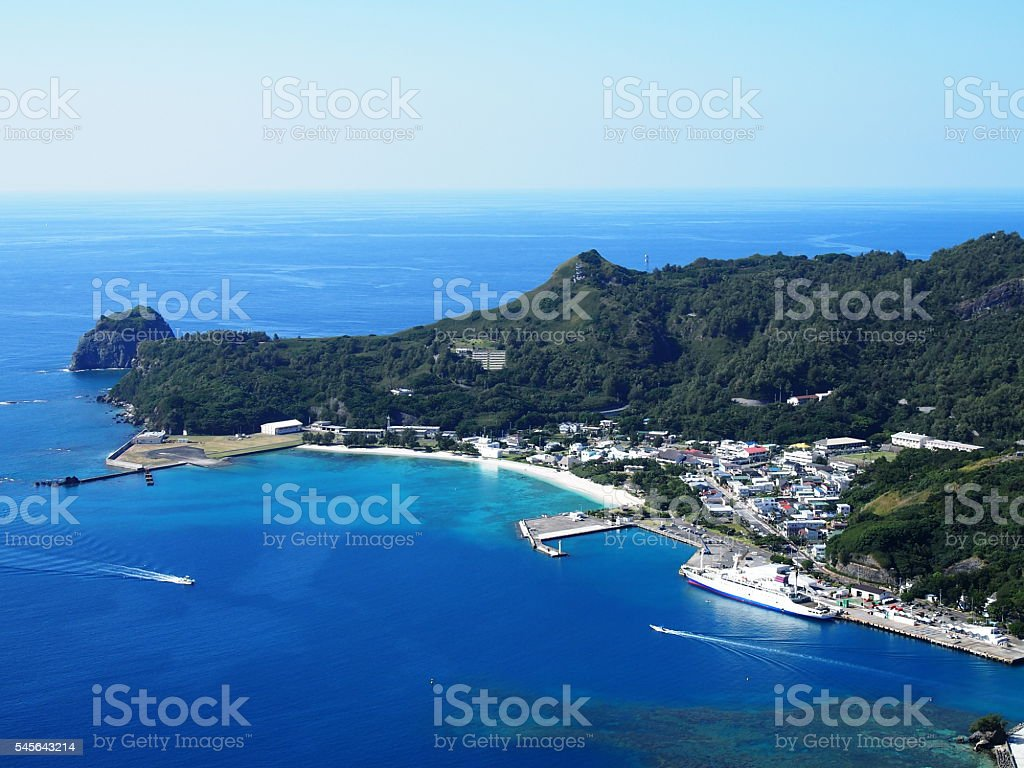 Chichi-jima in Bonin Islands stock photo