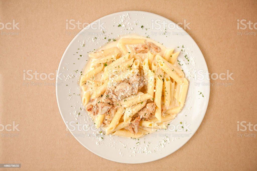 Chicken Alfredo stock photo