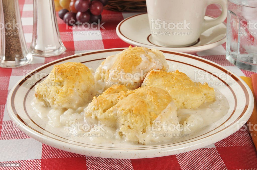 Chicken and biscuits stock photo
