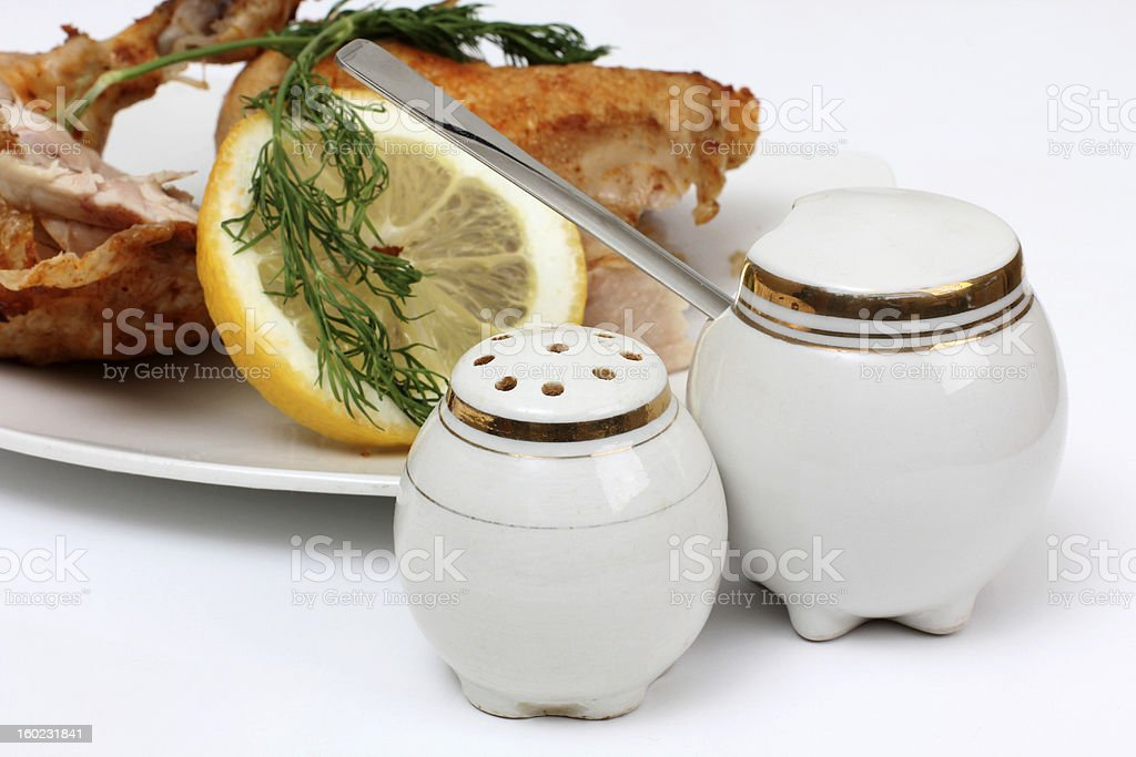 Chicken and lemon royalty-free stock photo