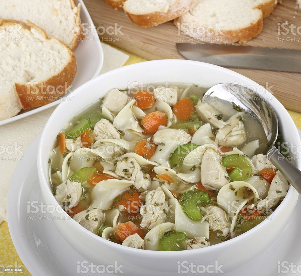Chicken and Noodle Soup royalty-free stock photo