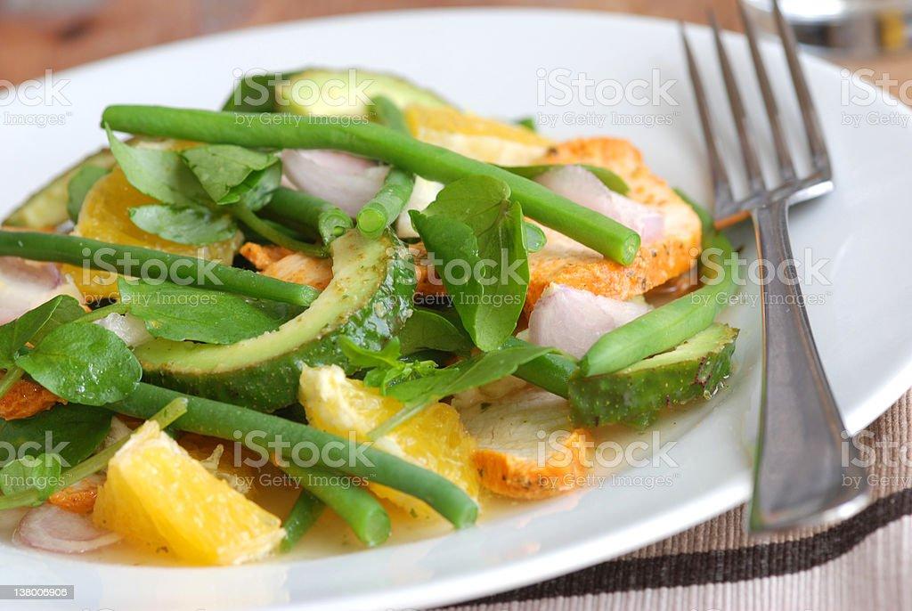 Chicken and orange salad royalty-free stock photo