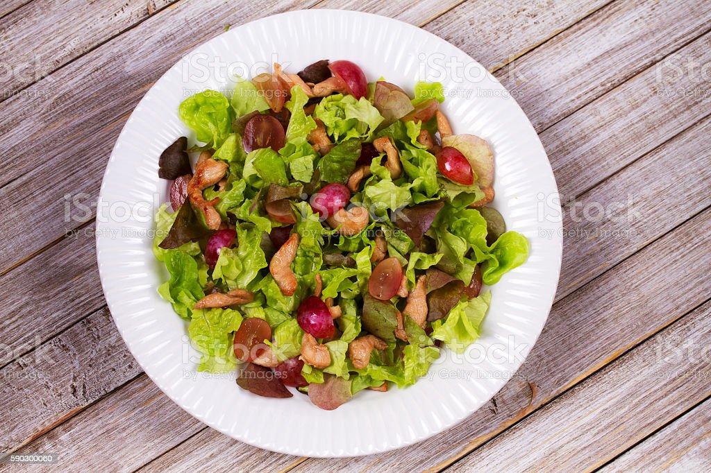 Chicken and red grape salad royaltyfri bildbanksbilder