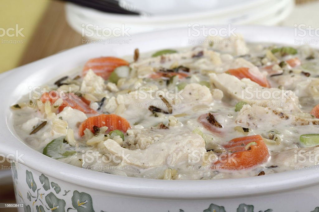 Chicken and Rice Soup royalty-free stock photo