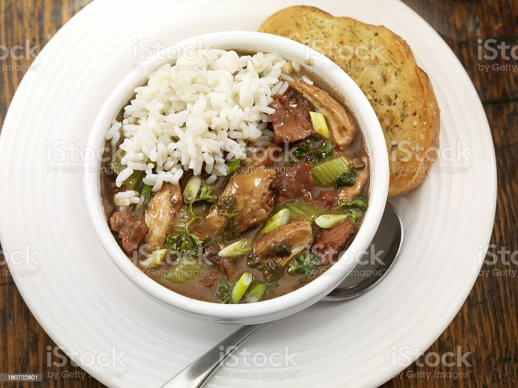 Chicken and Sausage Gumbo royalty-free stock photo